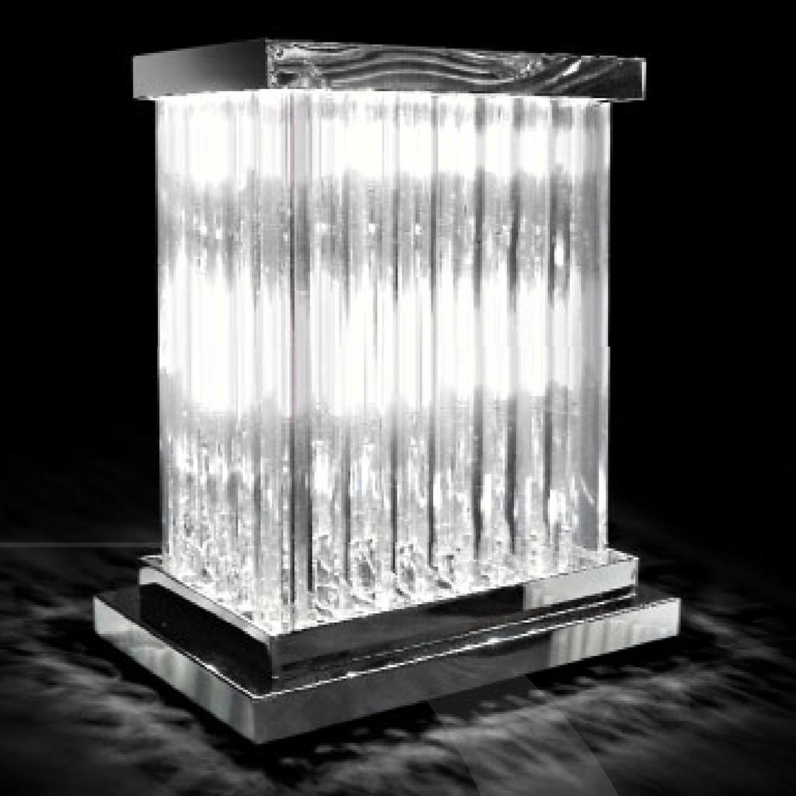 Promienna kryształowa lampa stołowa Dorico