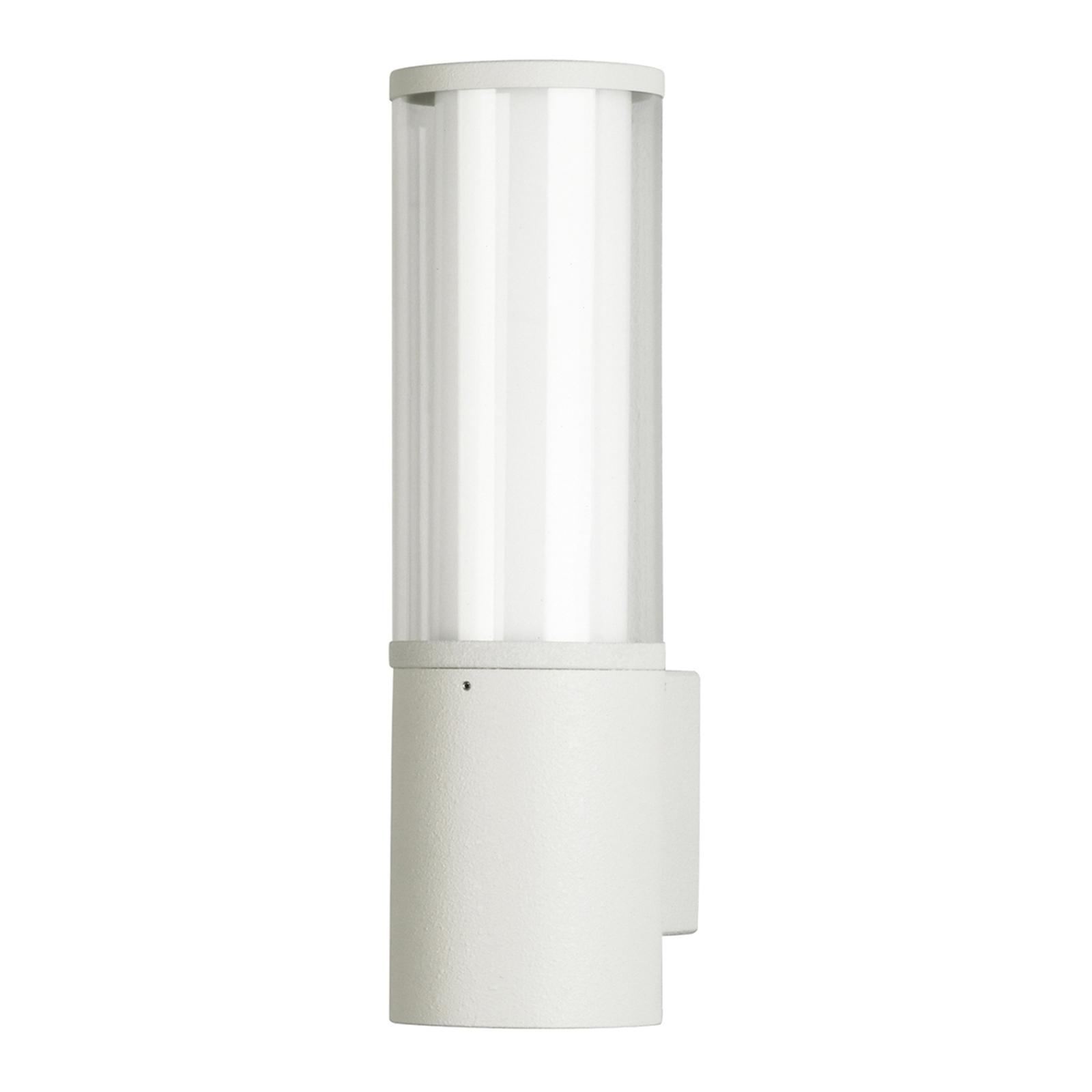 Nowoczesna zewnętrzna lampa ścienna Giulia biała