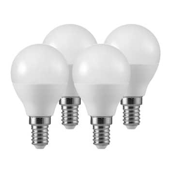 LED druppellamp E14 5,5W 2.700K mat 3+1 set