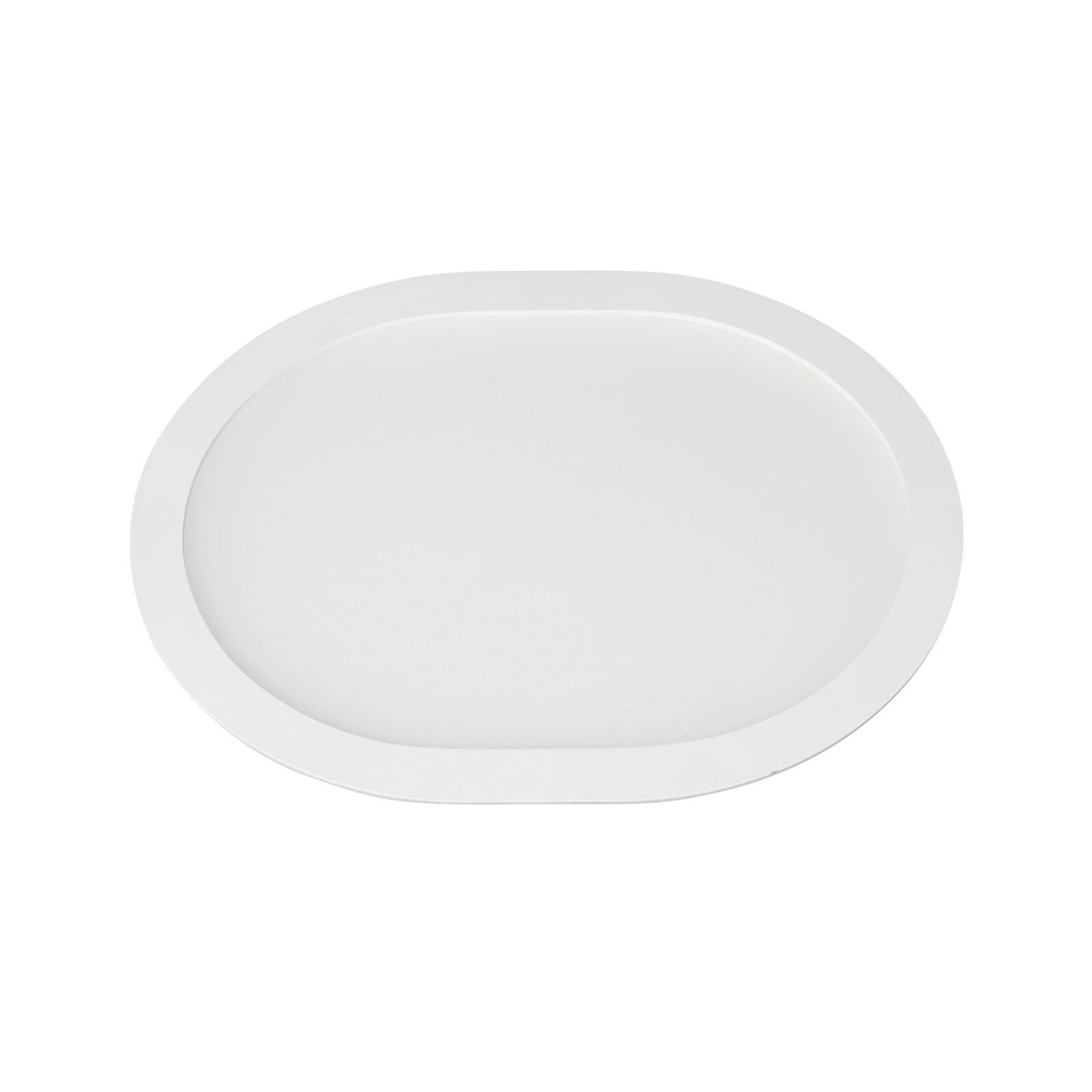 LED-innfellingspanel Ovale 3000K, 18 cm x 15 cm