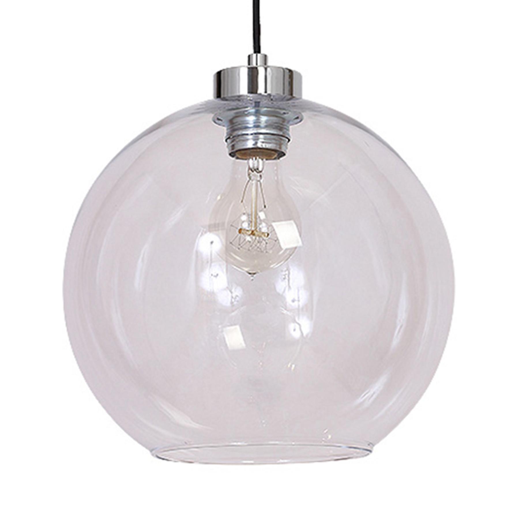 Lampada a sospensione Boll, vetro trasparente