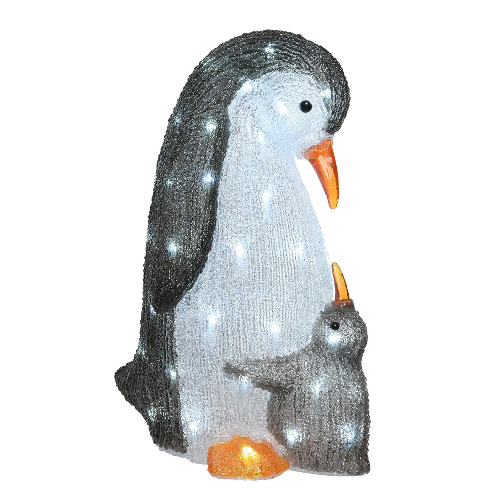 Jolie figurine lumineuse LED Jeunes pingouins