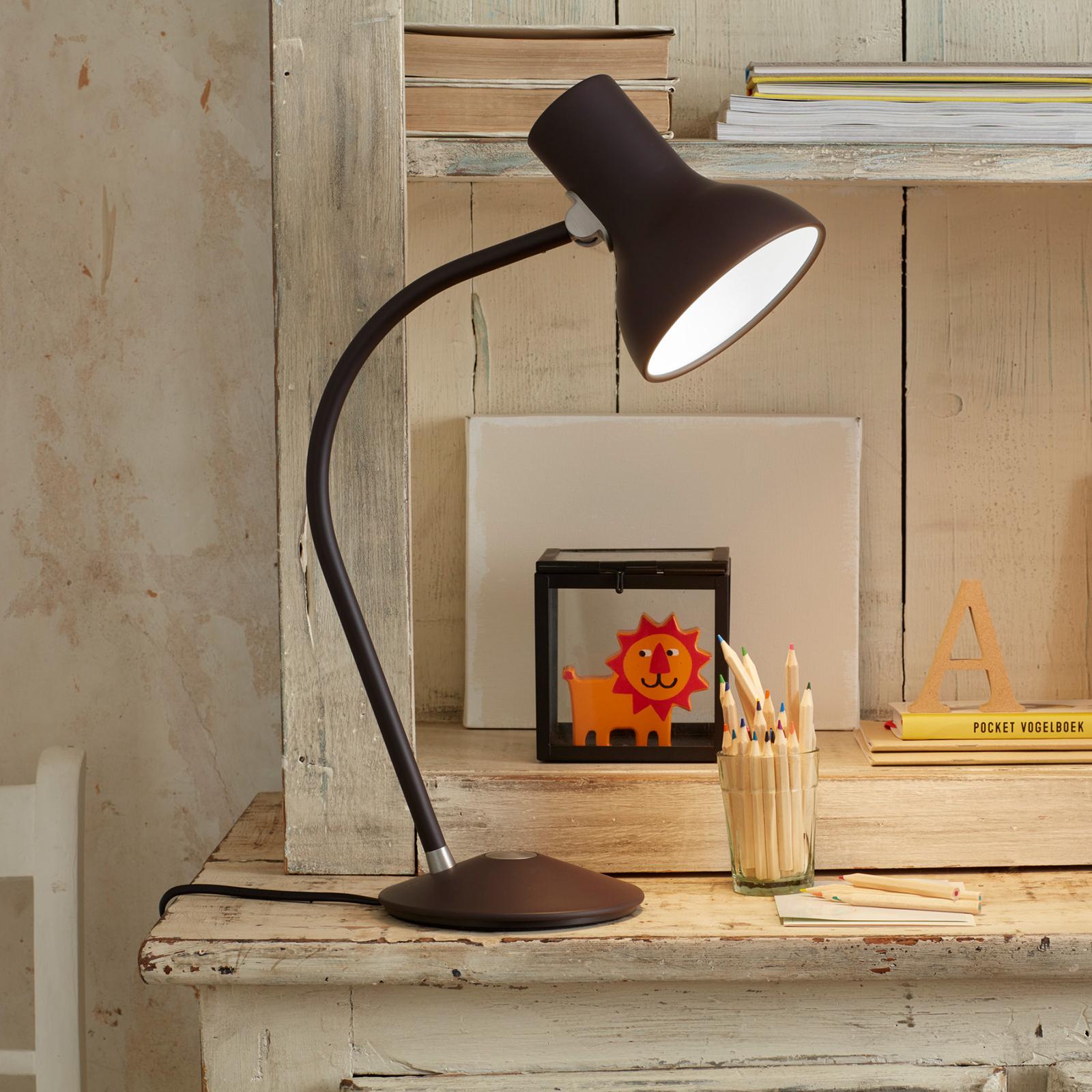 Anglepoise Type 75 Mini bordlampe, brunsvart