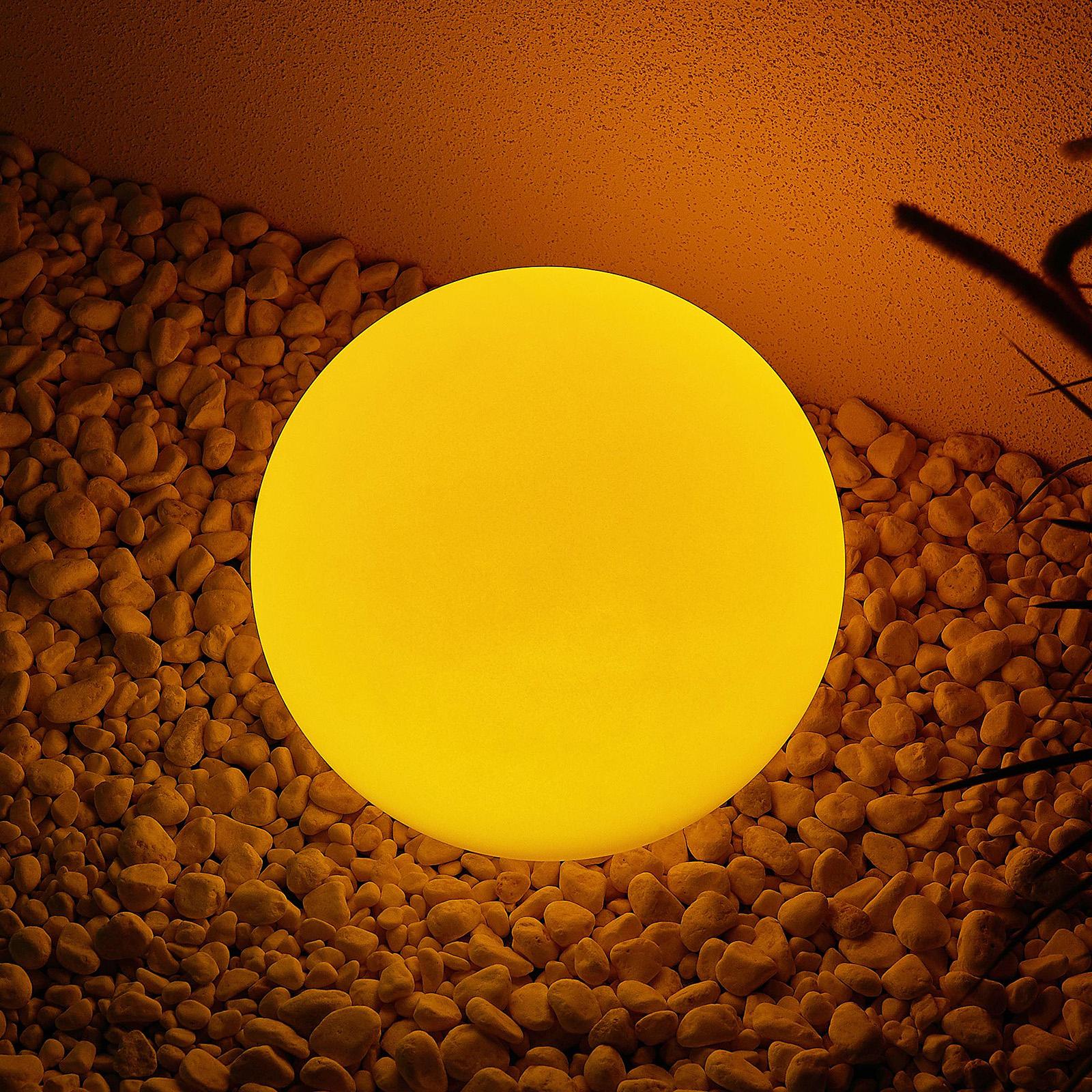 Lindby Yohan RGB LED-solcellelampe, 25 cm