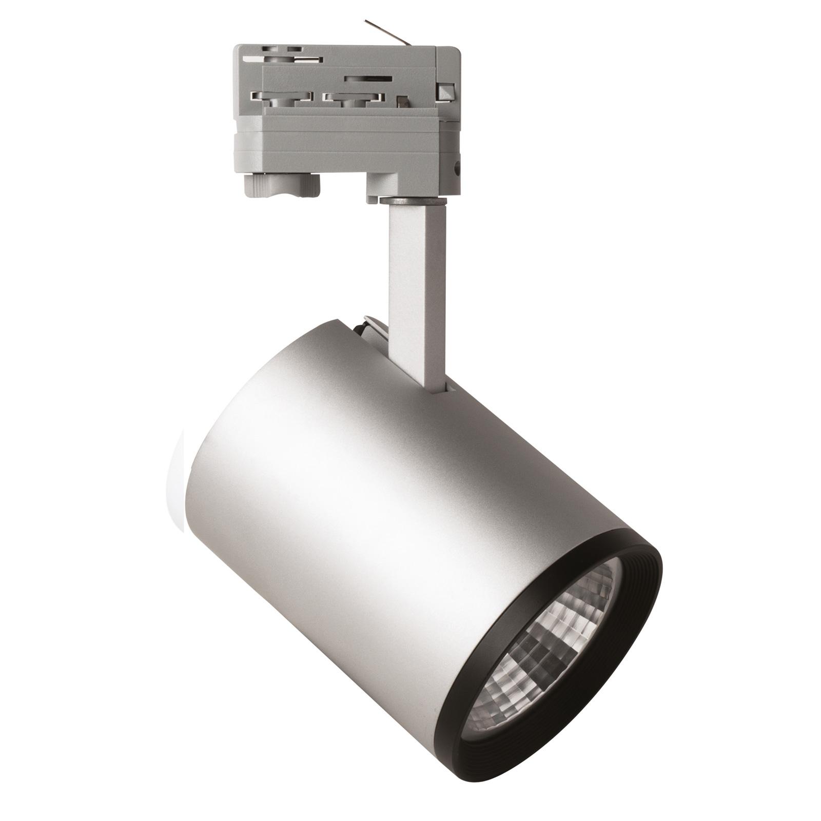 LED-spot Marco 3-fasen railsysteem zilver 4.000K