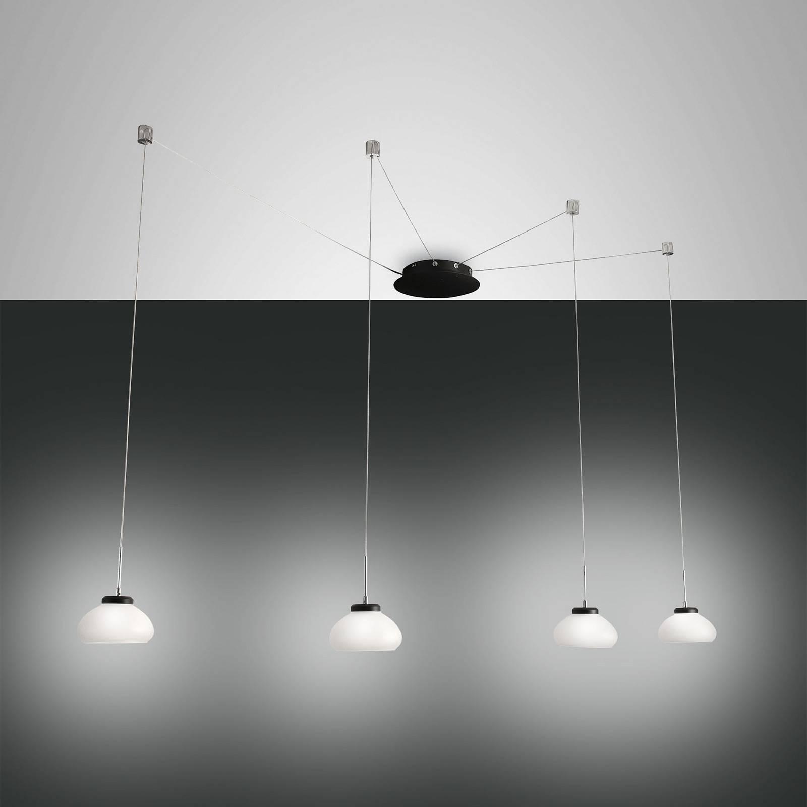 Hanglamp Arabella decentraal 4-lamps, wit