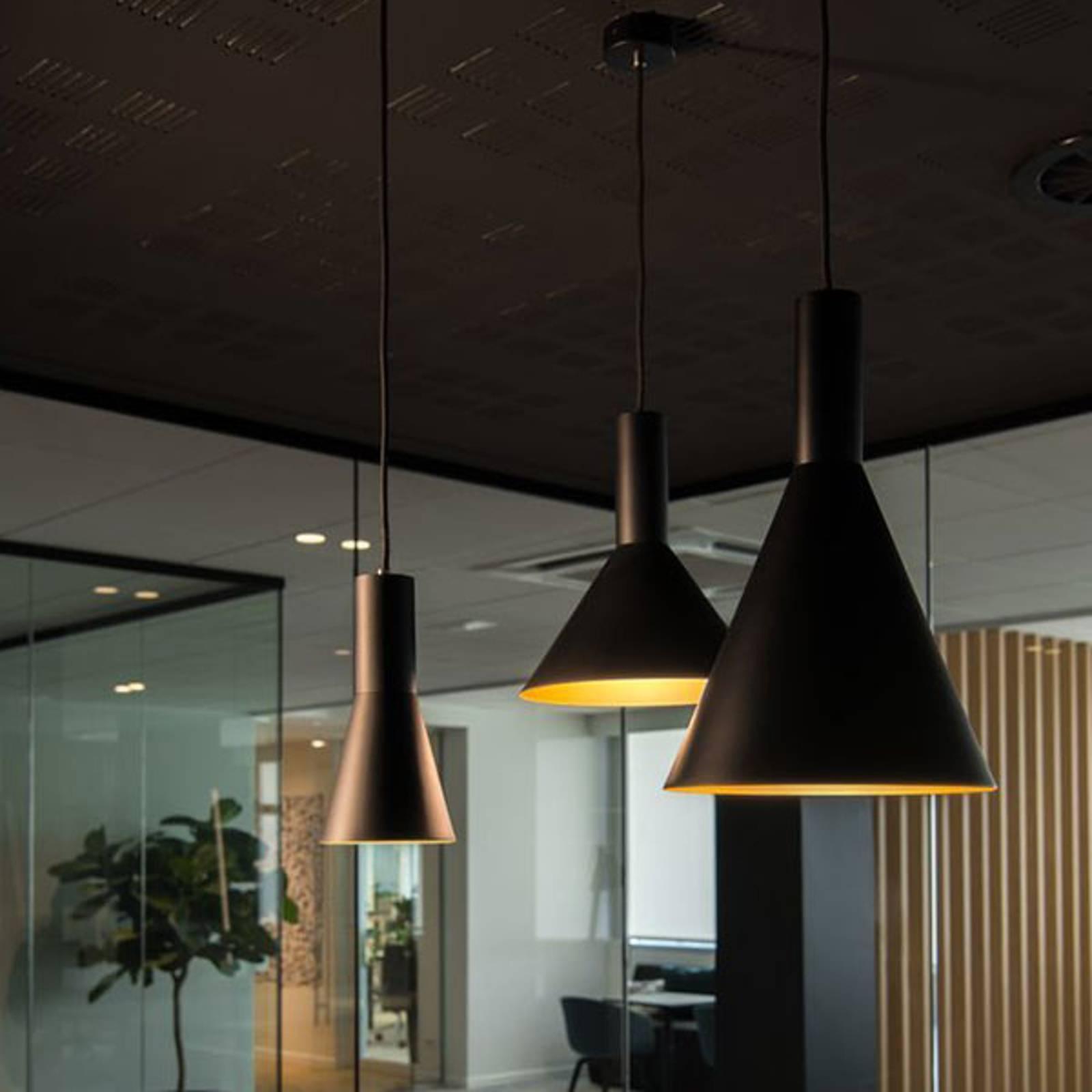 SLV Phelia hanglamp zwart/goud, Ø 27,5 cm