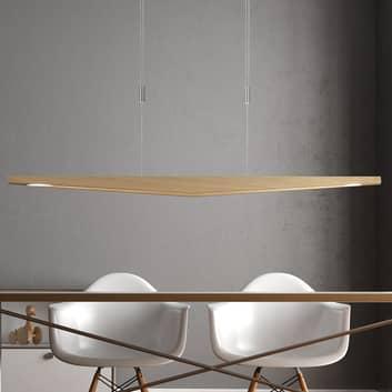 Lucande Dila LED závěsné světlo, přírodní, 148 cm
