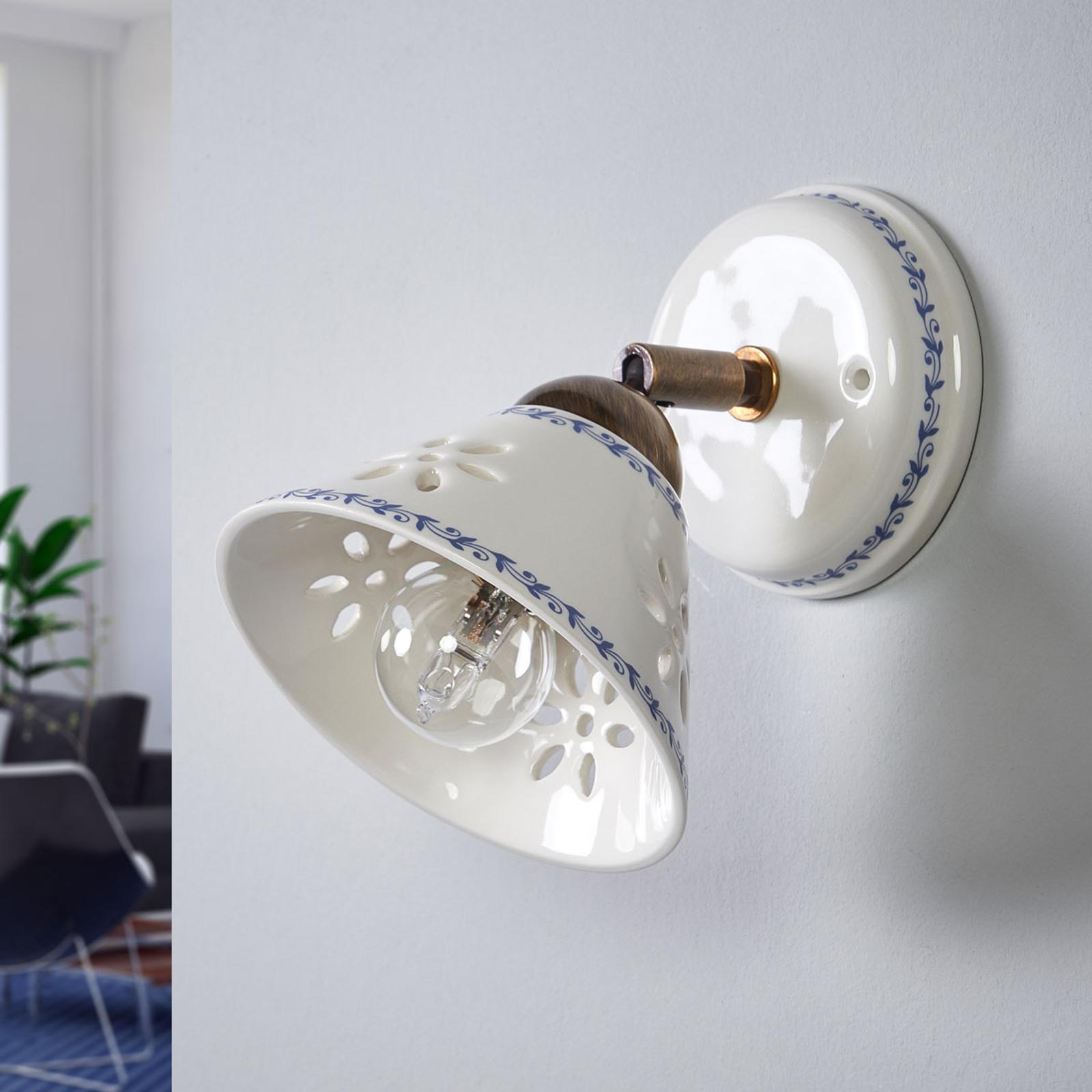 Væglampe NONNA i hvid keramik