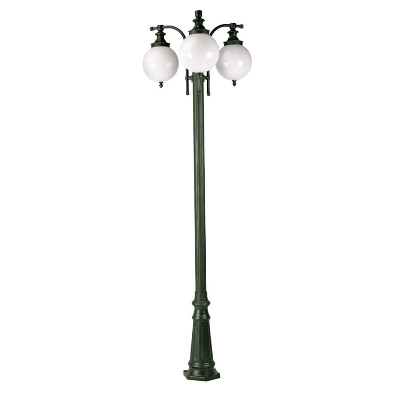 Lantaarnpaal Madeira 3-lamps donkergroen