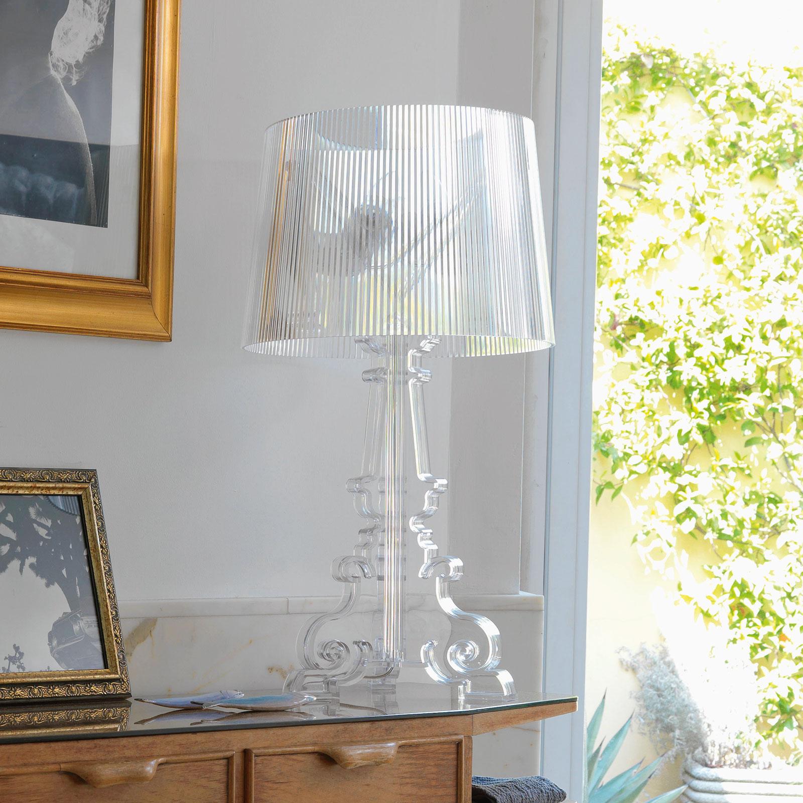 Lampe à poser LED de designer Bourgie, transp.
