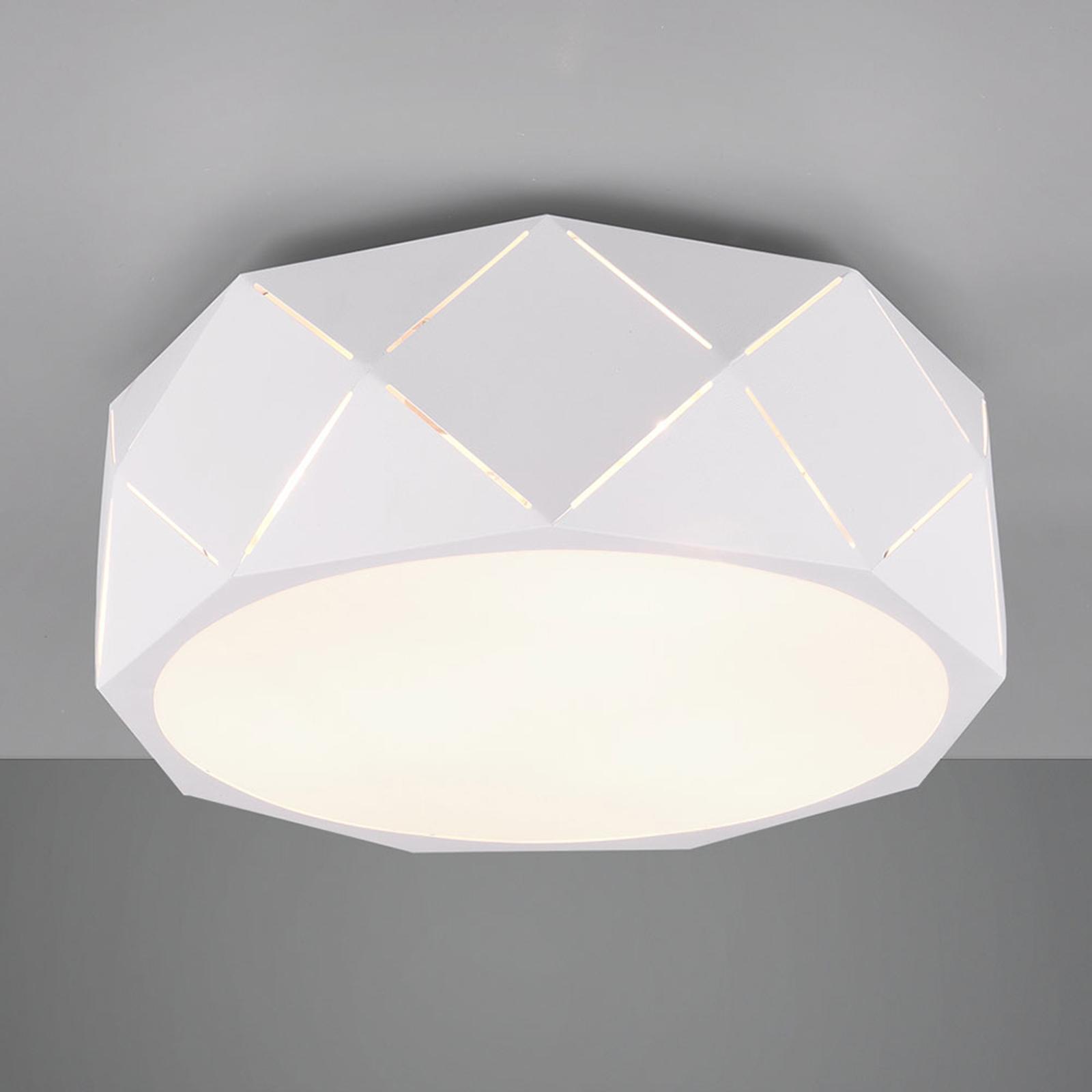 Deckenlampe Zandor mit weißem Schirm