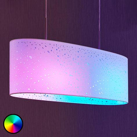 Lindby Smart LED-pendellampe Alwine, prikker, oval