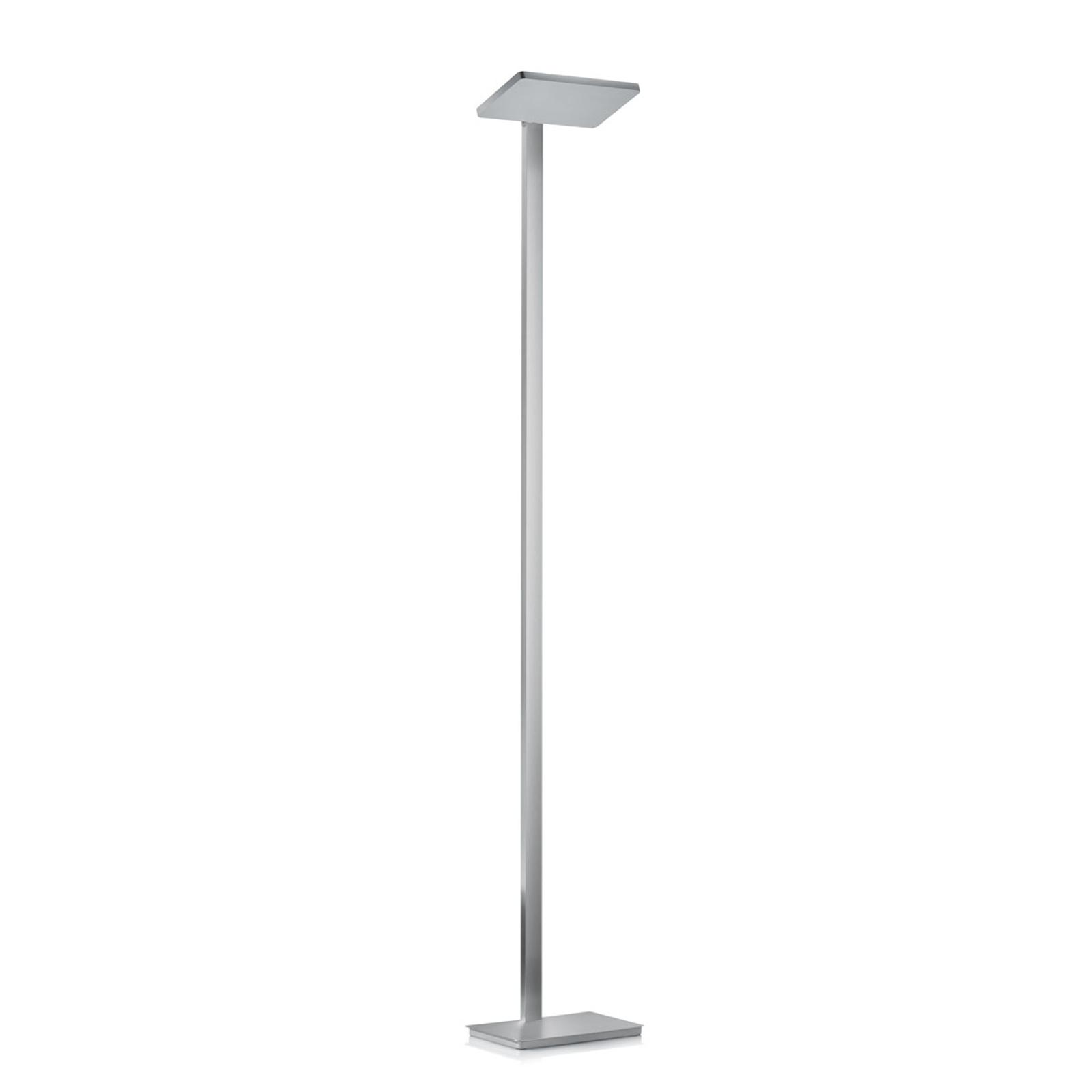 Moderne LED vloerlamp Geri in matnikkel