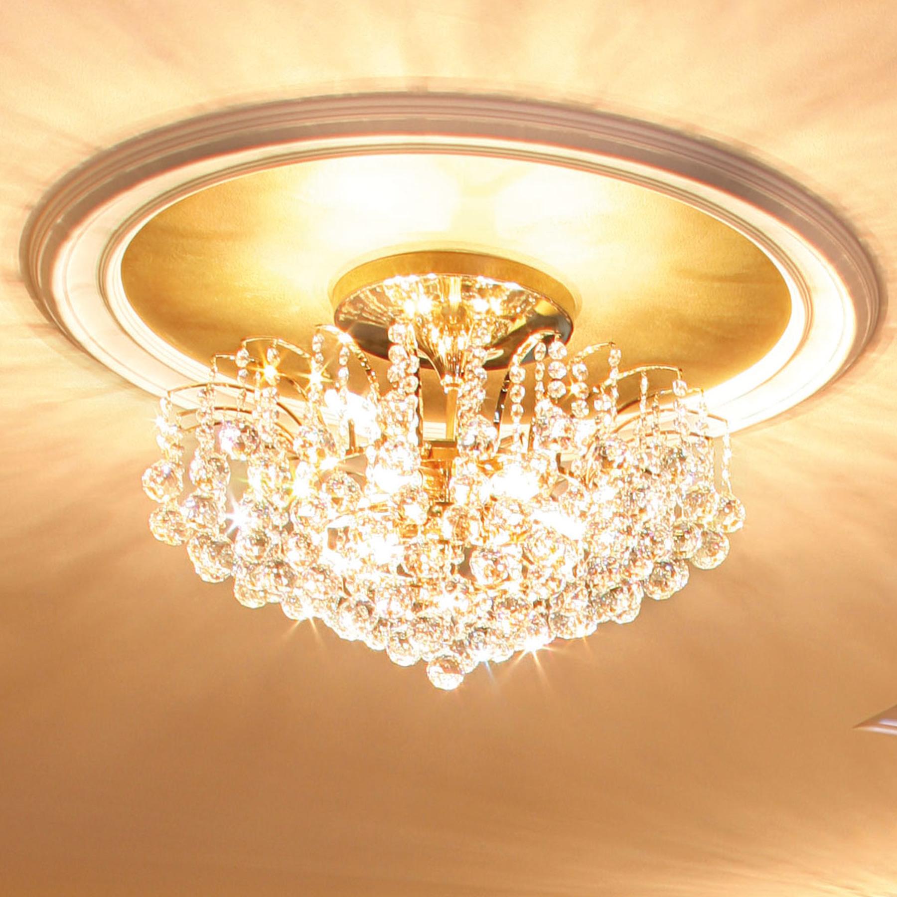 Lampa sufitowa LENNARDA - 24-karatowe złoto