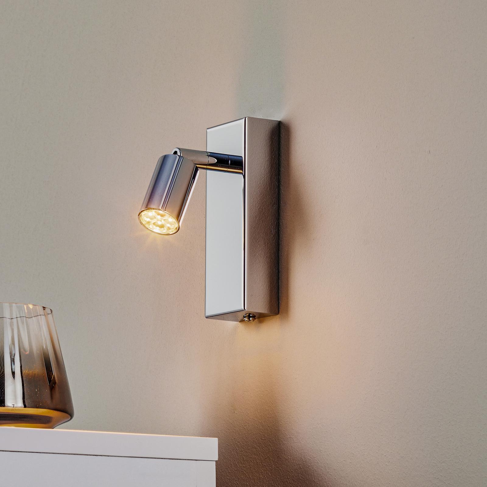 6,5 W LED-Wandspot Karen in Chrom poliert