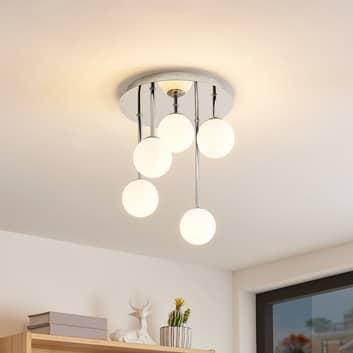Lindby Chrissy taklampa, 5 lampor, 25 cm