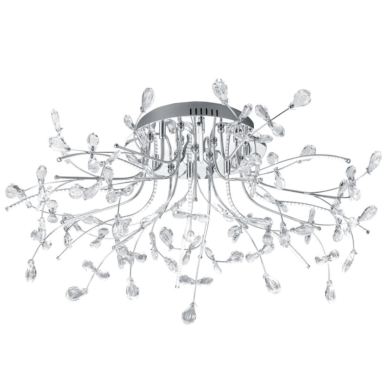 B-Leuchten Crystal lampa sufitowa, chrom, 77 cm
