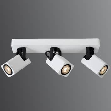Hvid LED-loftsspot Roax med 3 lyskilder