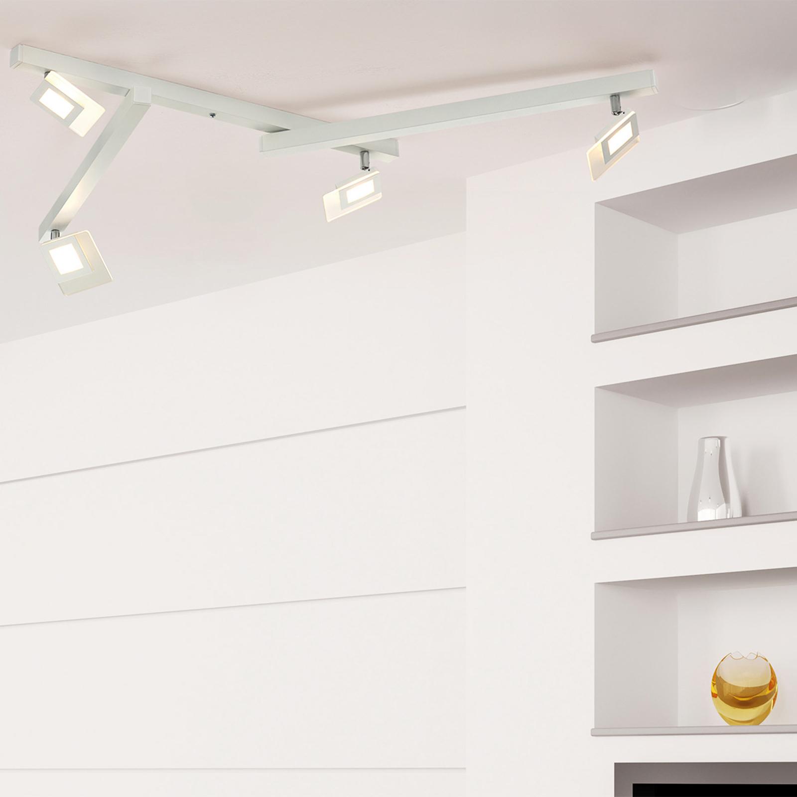 Bopp Line - fünfflammige LED-Deckenlampe in Weiß