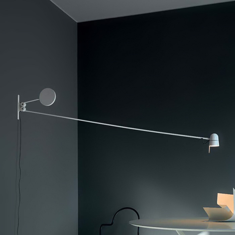 Applique LED extravagante Counterbalance, blanc