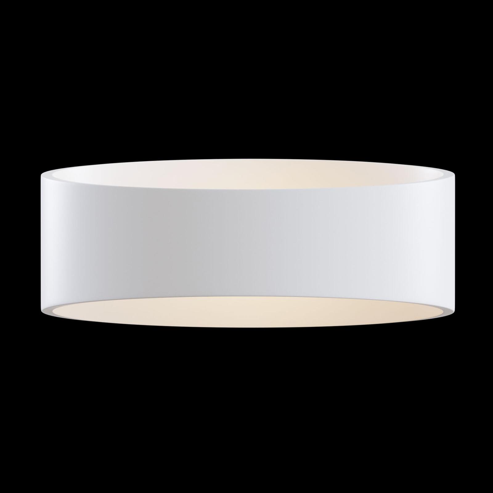 LED wandlamp Trame, ovale vorm in wit
