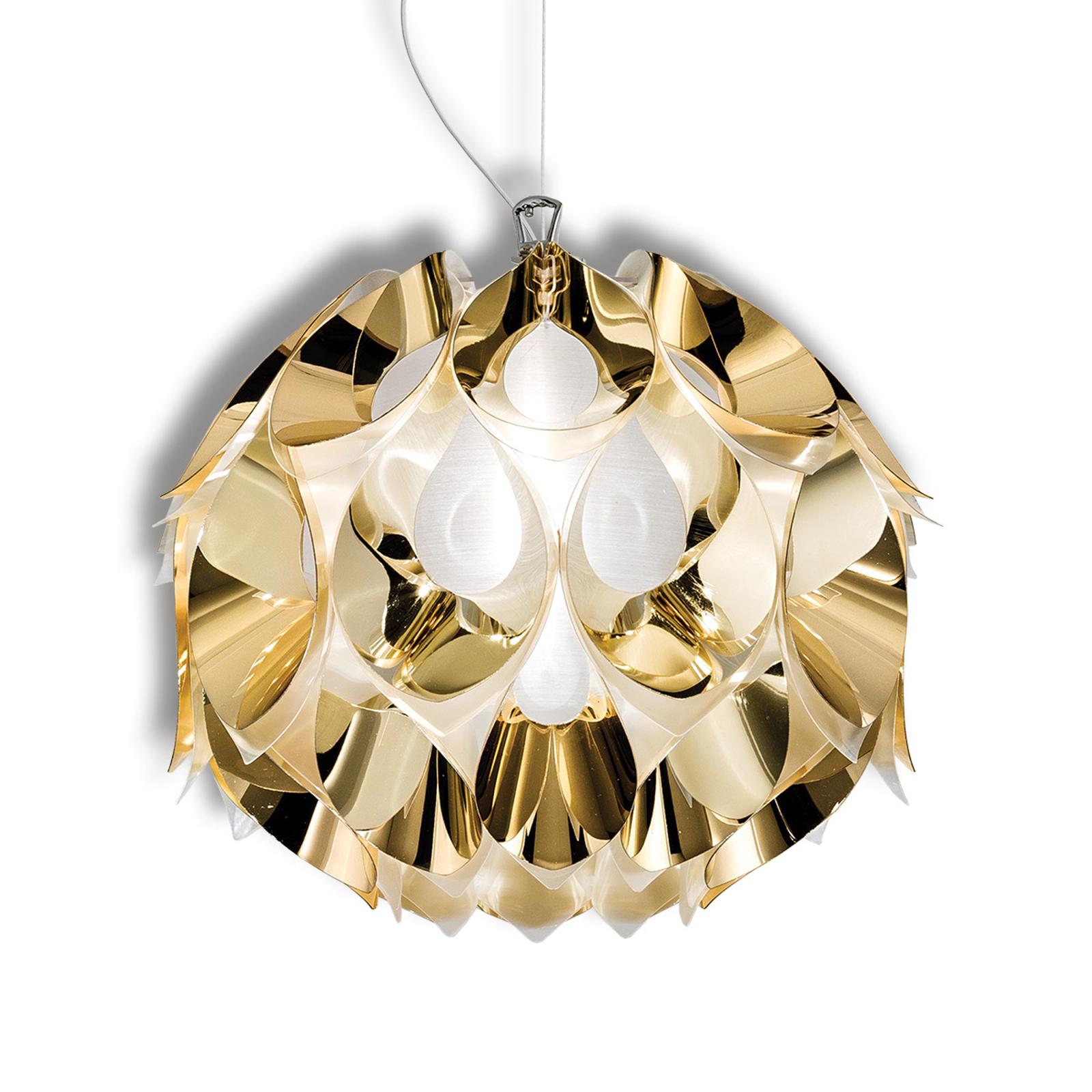 Magnifique suspension Flora en doré, 36 cm