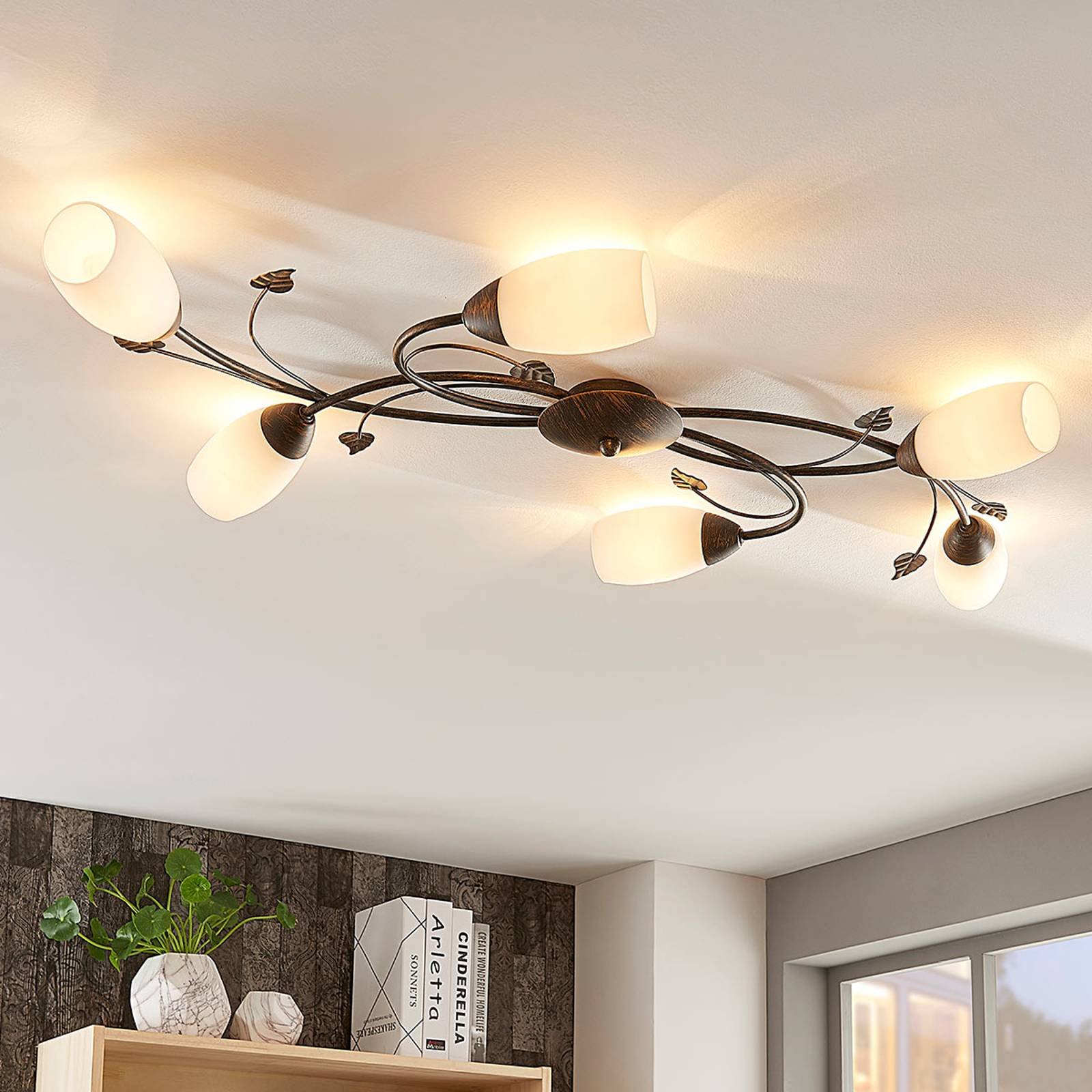 Romantische LED plafondlamp Stefania