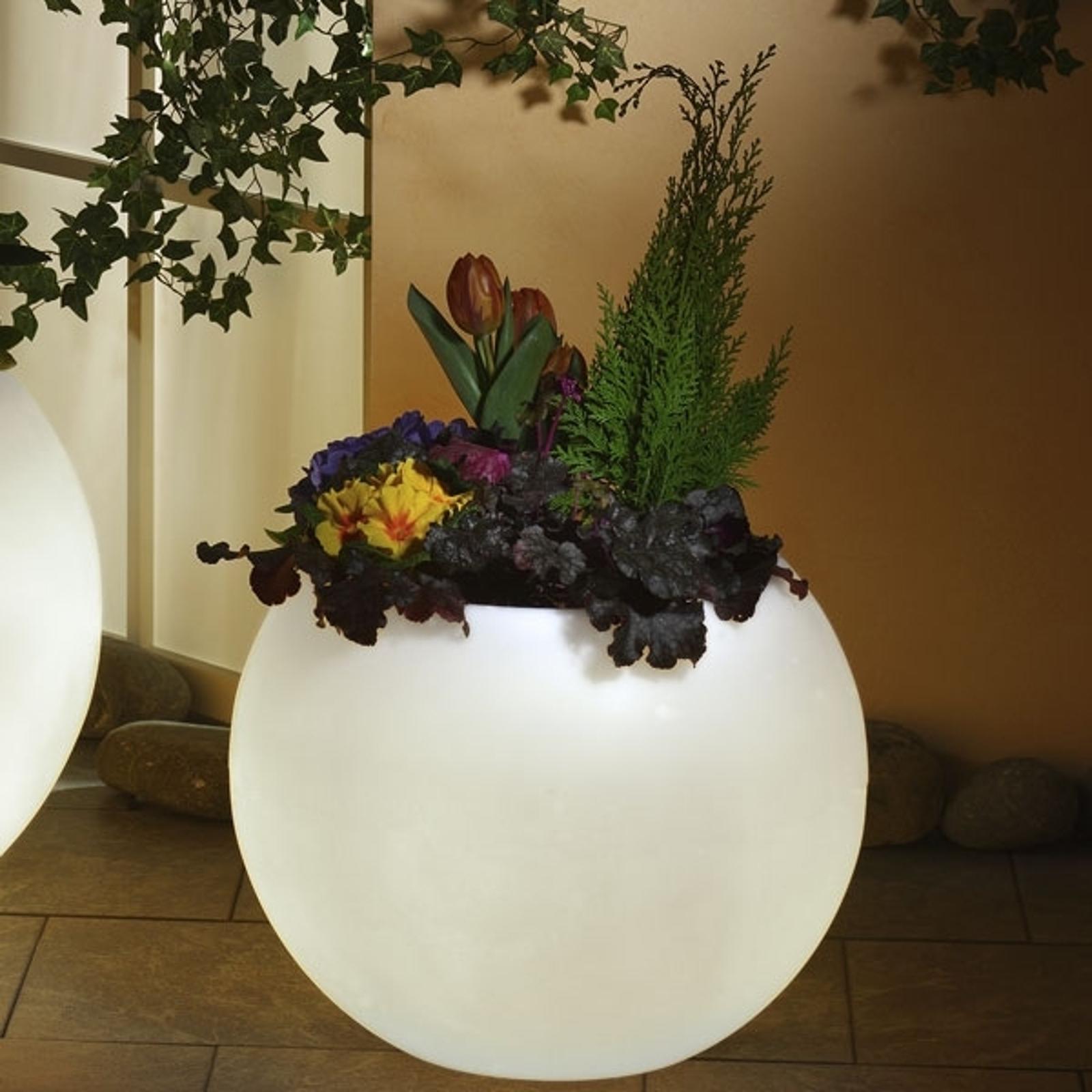 Oświetlające naczynie do roślin biały 50