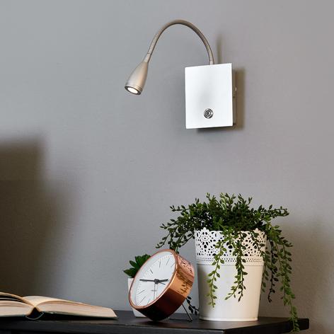 Dimbar LED-vegglampe Torin, sølvgrå