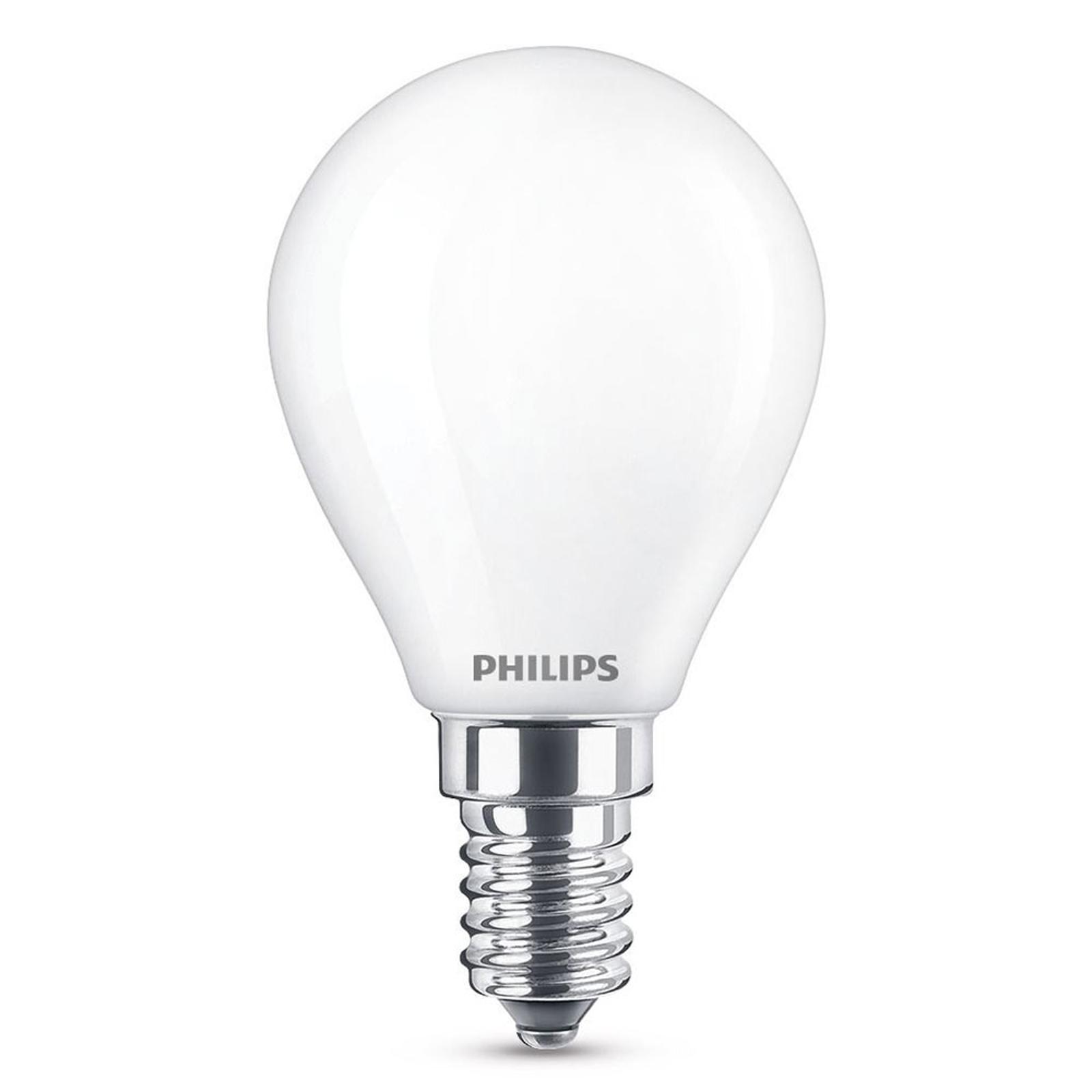 Żarówka kropla LED E14 ciepła biel, 250 lumenów