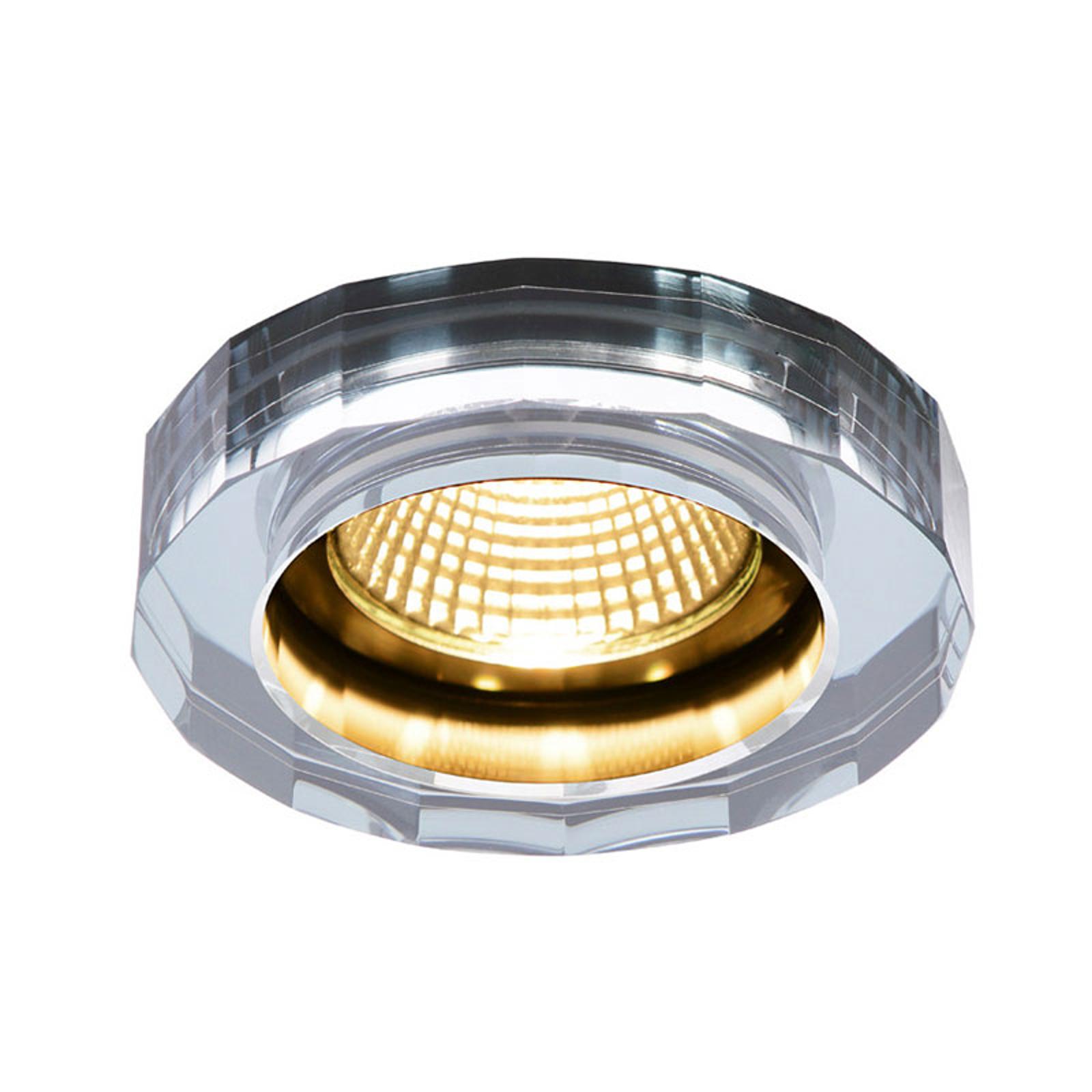 SLV Crystal LED-Einbaustrahler dim to warm, chrom