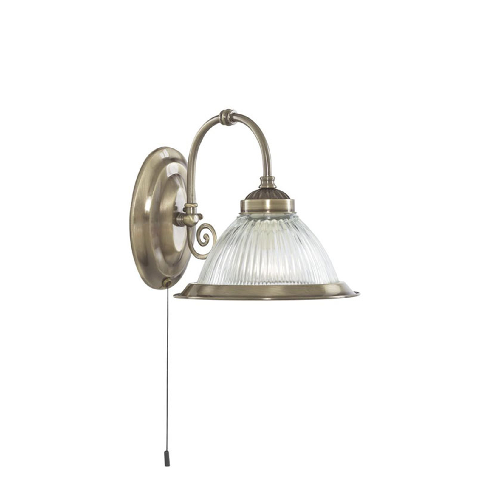 American Diner væglampe, antik messing