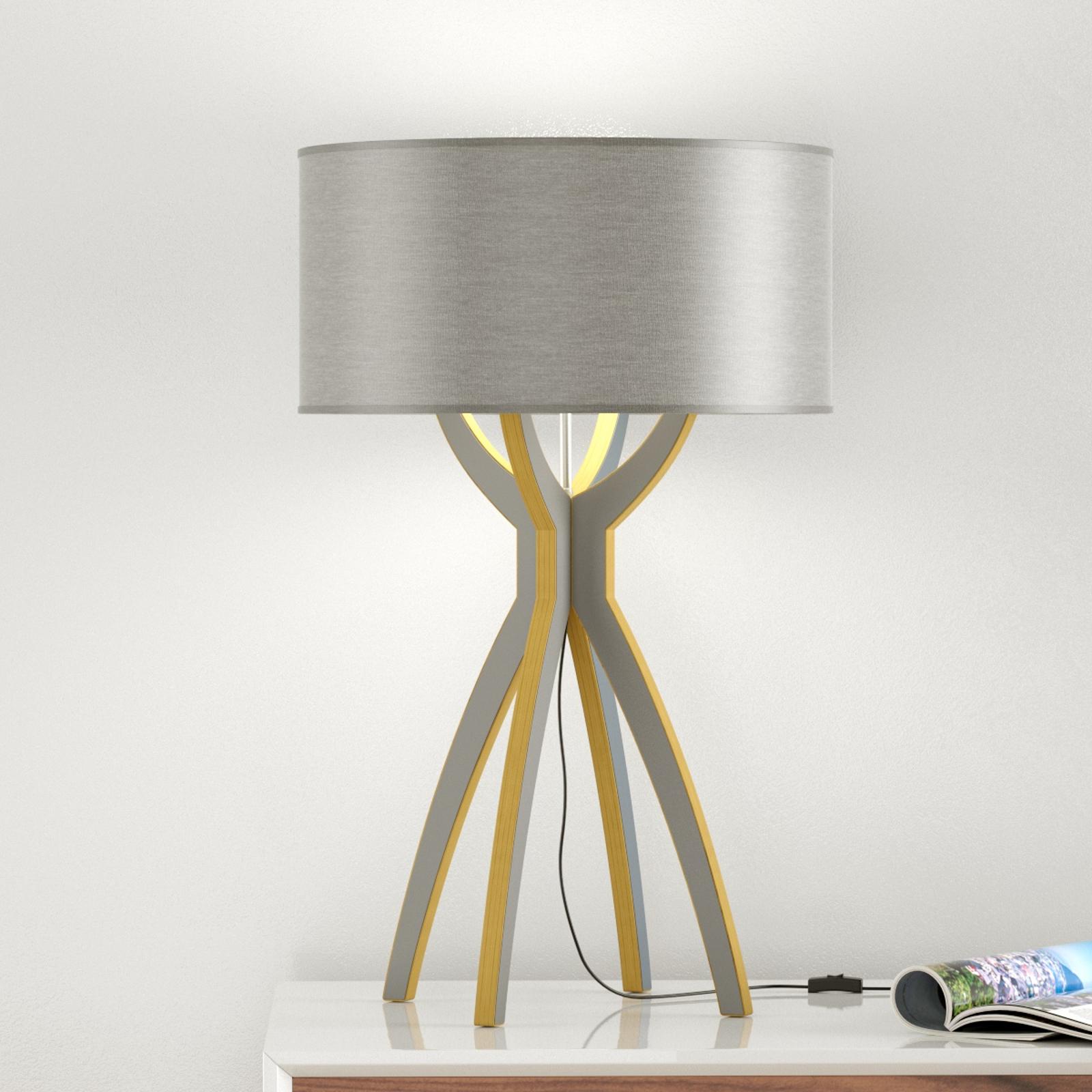 B-Leuchten Body - tafellamp hout grijs