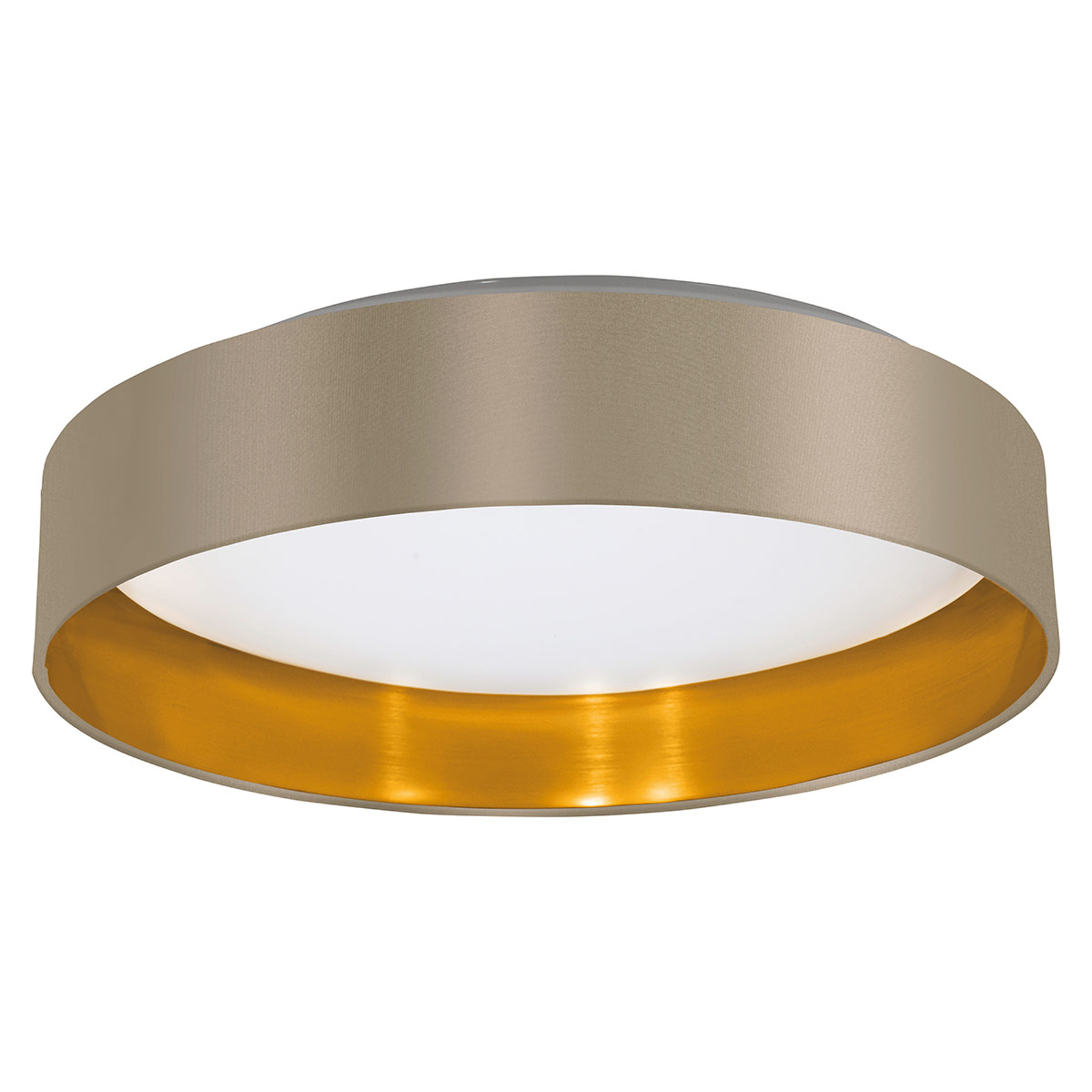 LED-Deckenleuchte Maserlo in Taupe-Gold