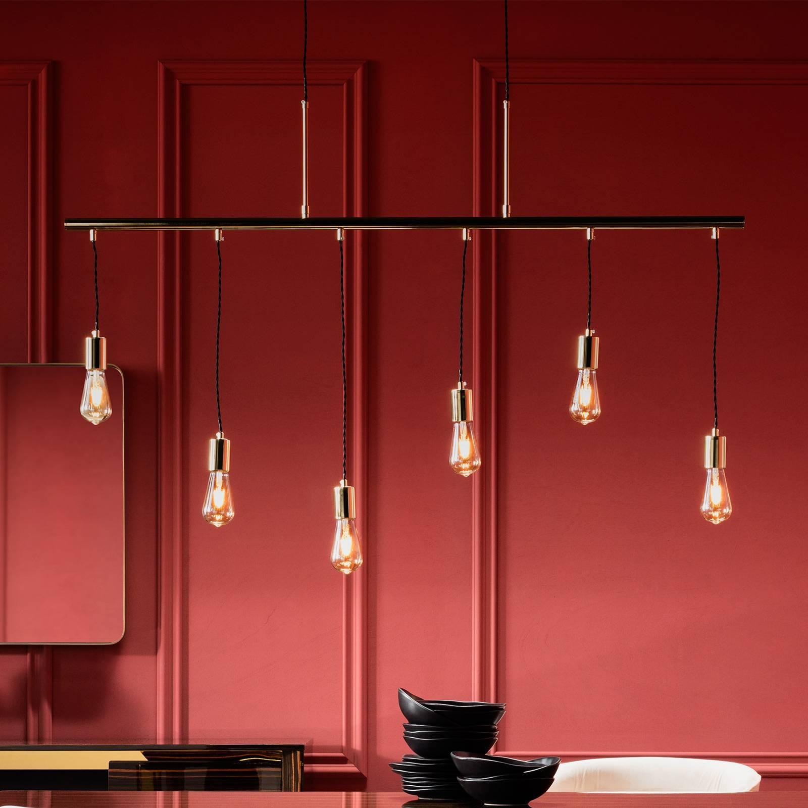 KARE Pole Brass Six - glanzende hanglamp