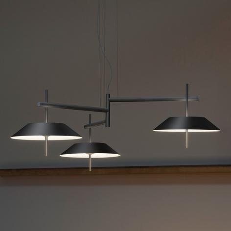 Vibia Mayfair - závěsné světlo LED, 3zdr, grafit