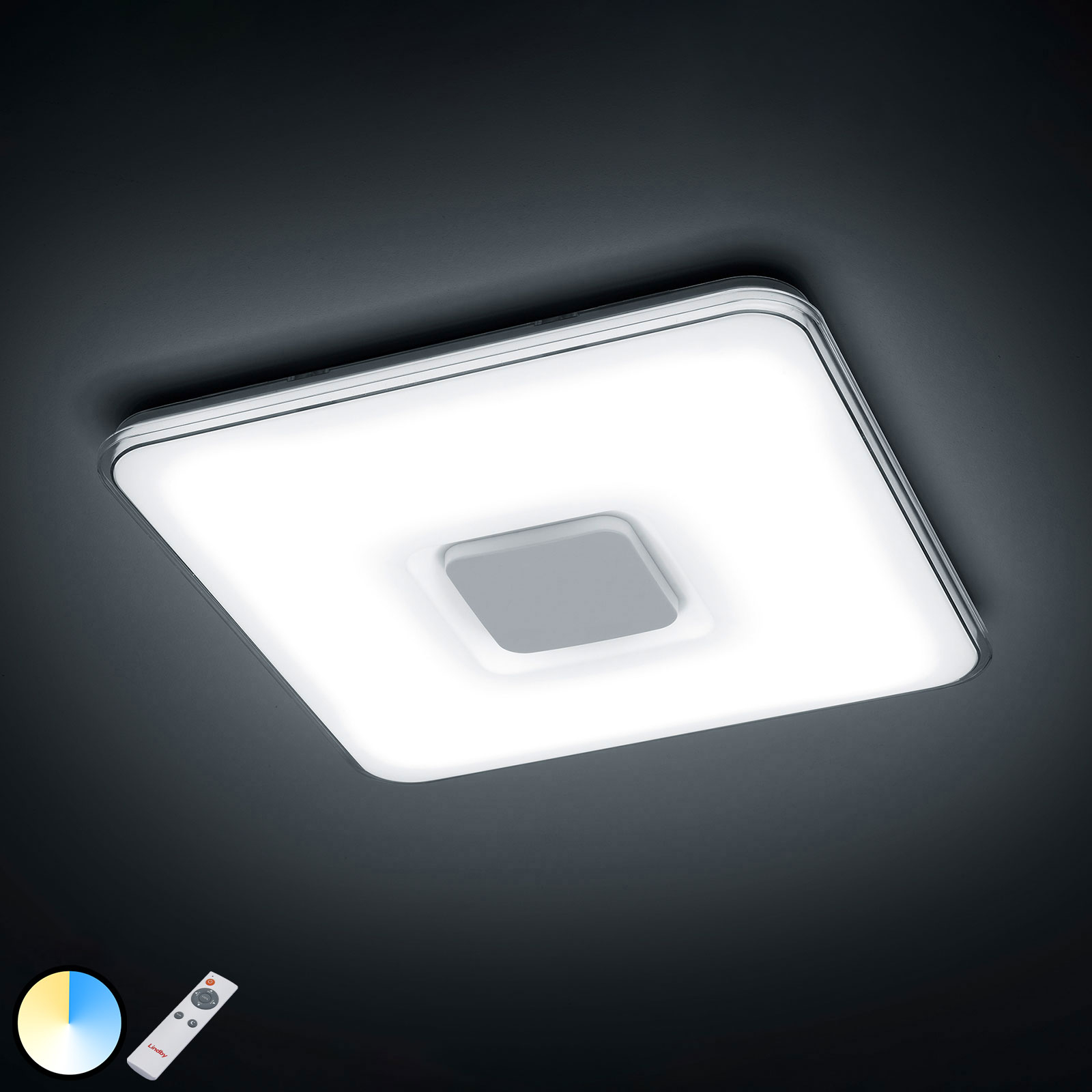 Acquista Plafoniera LED Brajan, 3.000-5.500 K, quadrata