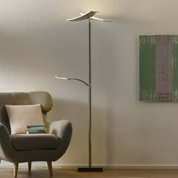 B-Leuchten Duo LED-gulvlampe med dæmper, nikkel