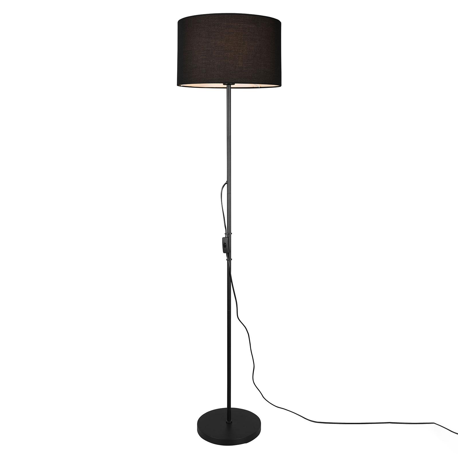 Tarkin gulvlampe med stofskærm, sort
