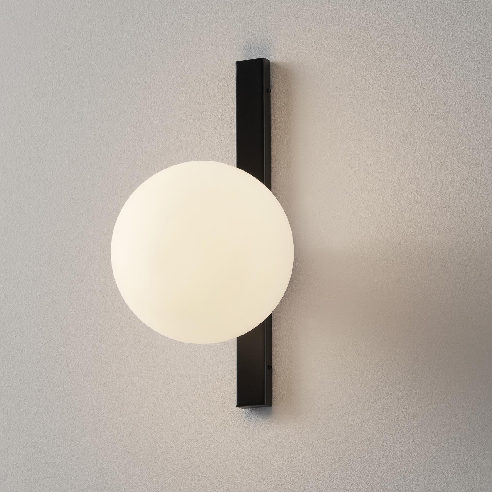 Nástěnné světlo Enoire v černobílé, 1 zdroj