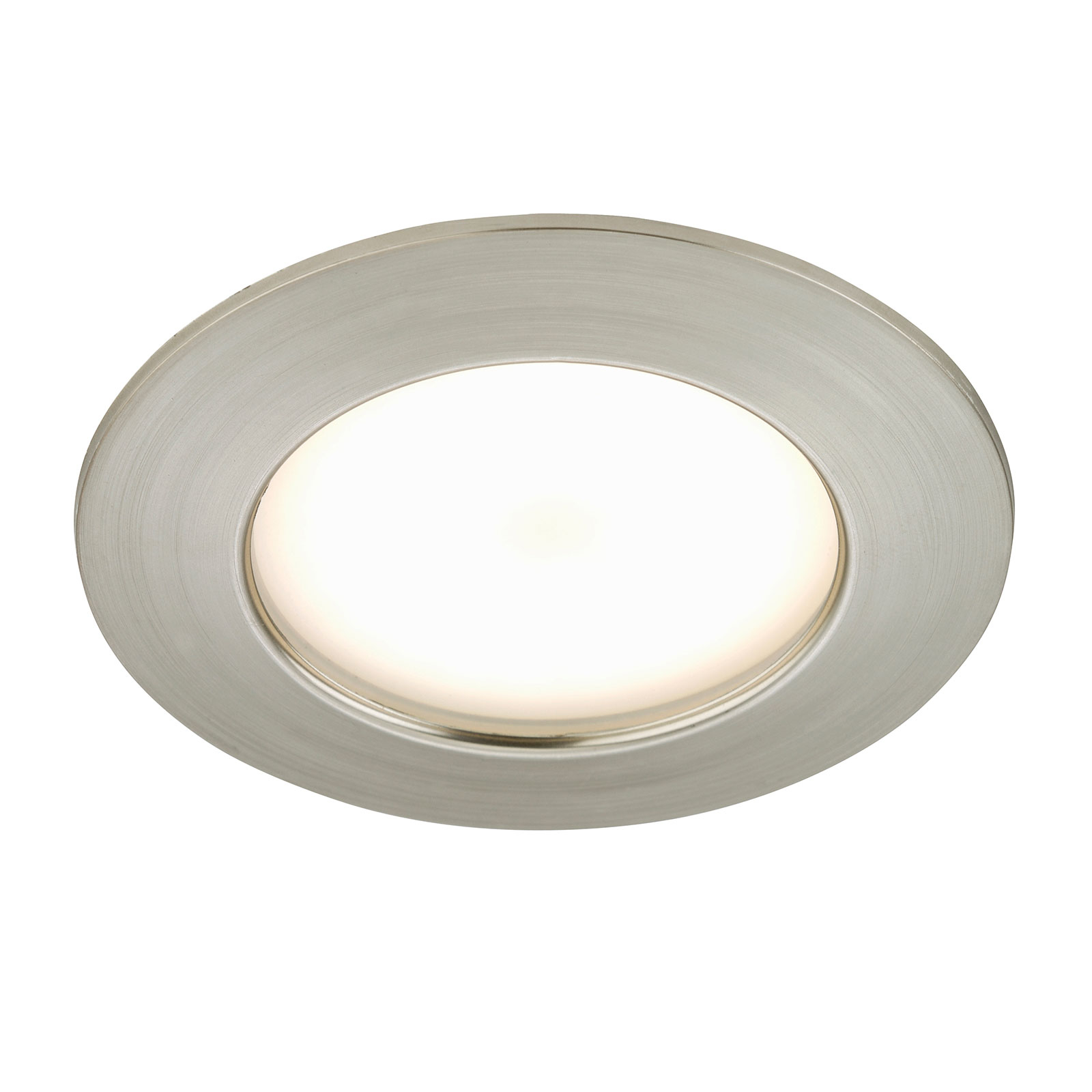 Downlight LED Carl da esterni, nichel satinato