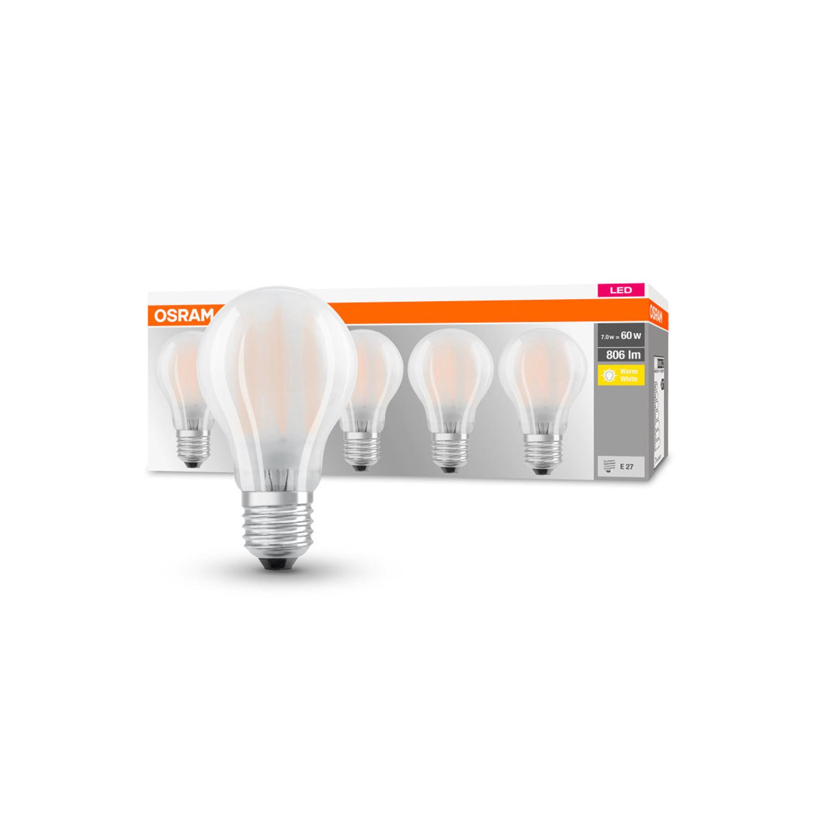 OSRAM LED-Lampe Classic E27 7W 2.700K 806lm 5er