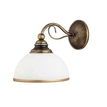 Wandlamp Casale met glazen kap