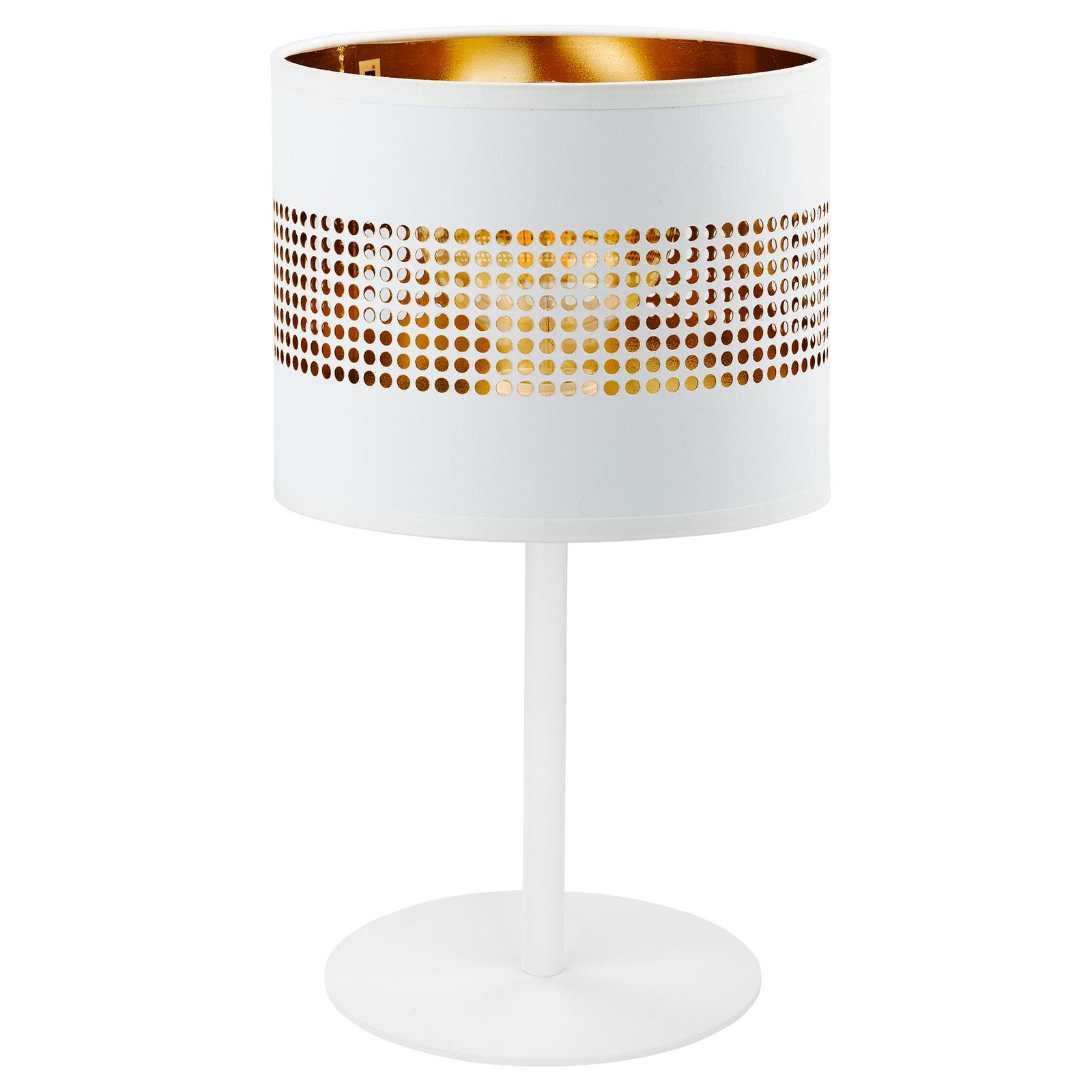 Lampa stołowa Tago biała/złota