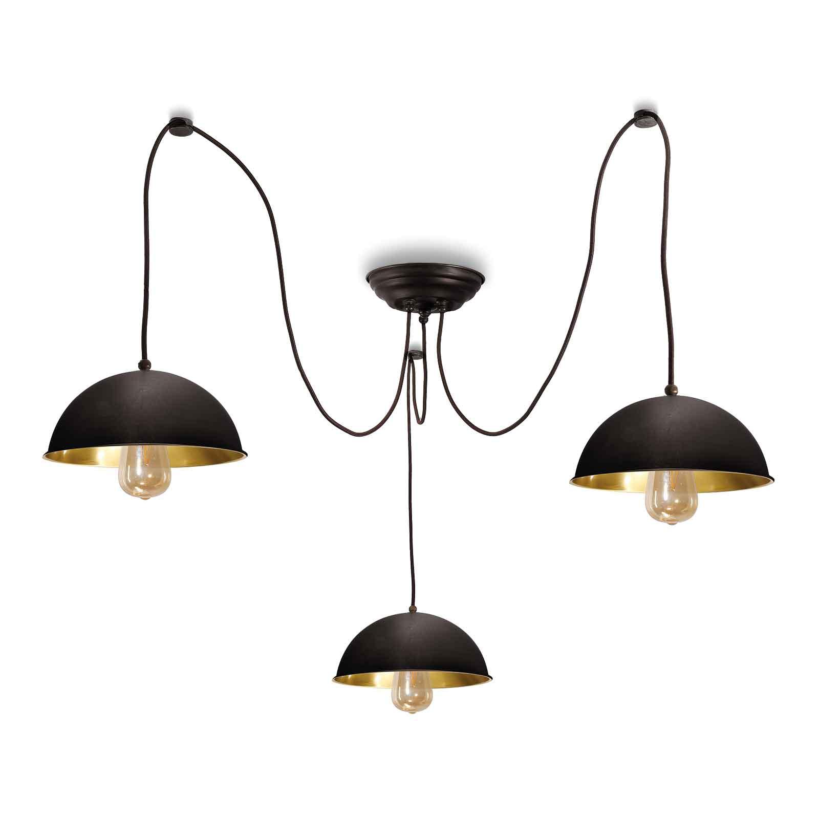 Suspension Circle 3248.3L, 3 lampes laiton bruni