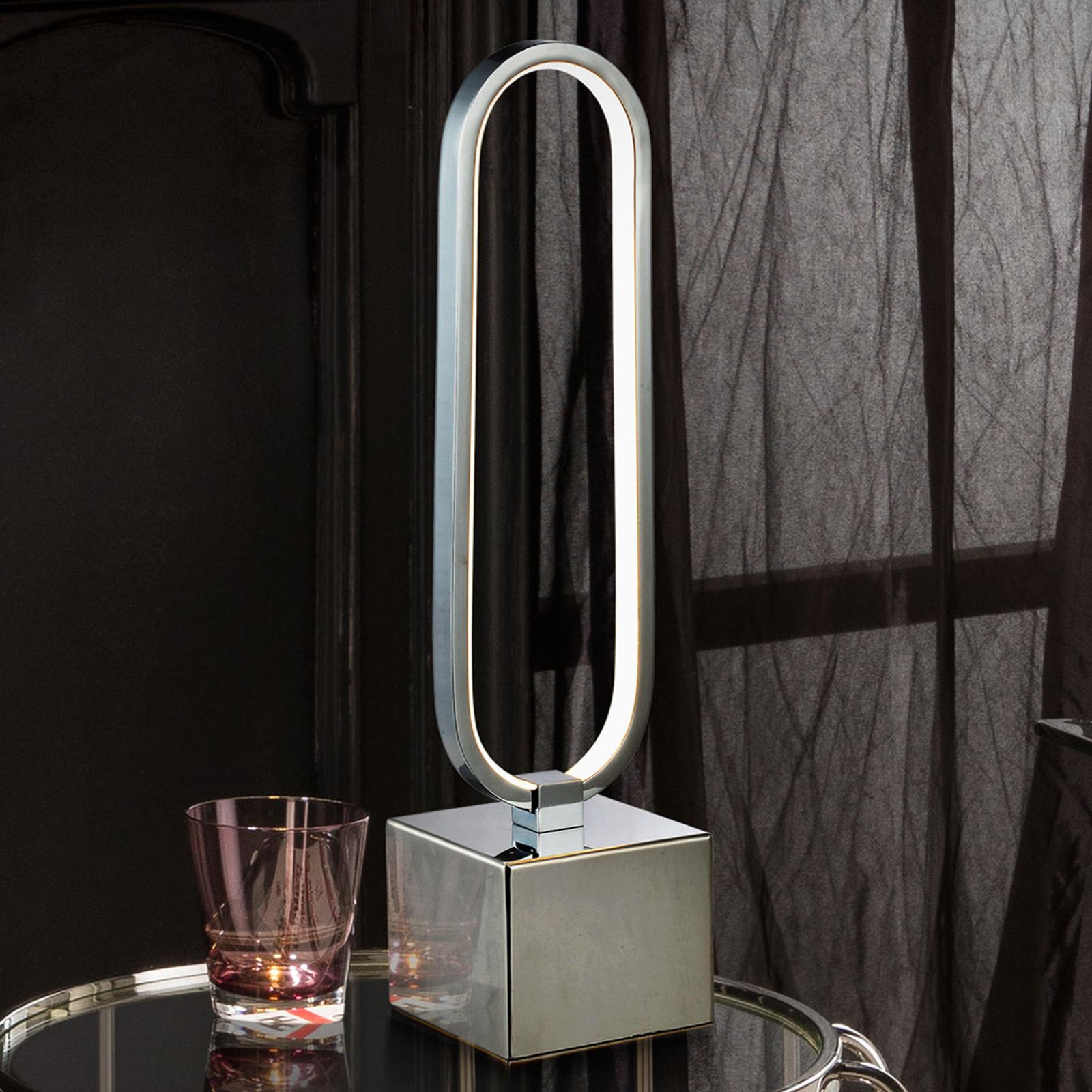 LED tafellamp Colette in prachtig ontwerp, chroom