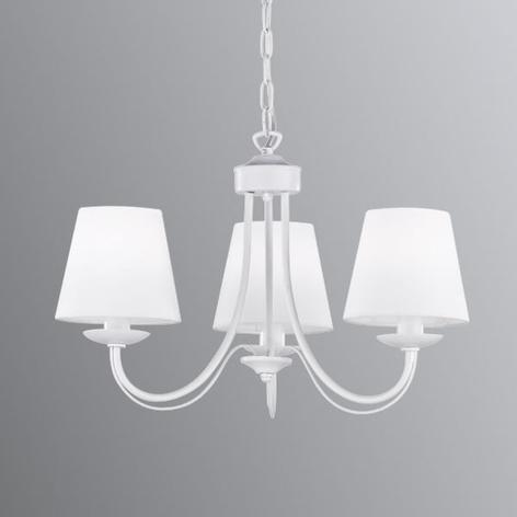 Lámpara de araña Cortez, blanco, 3 brazos