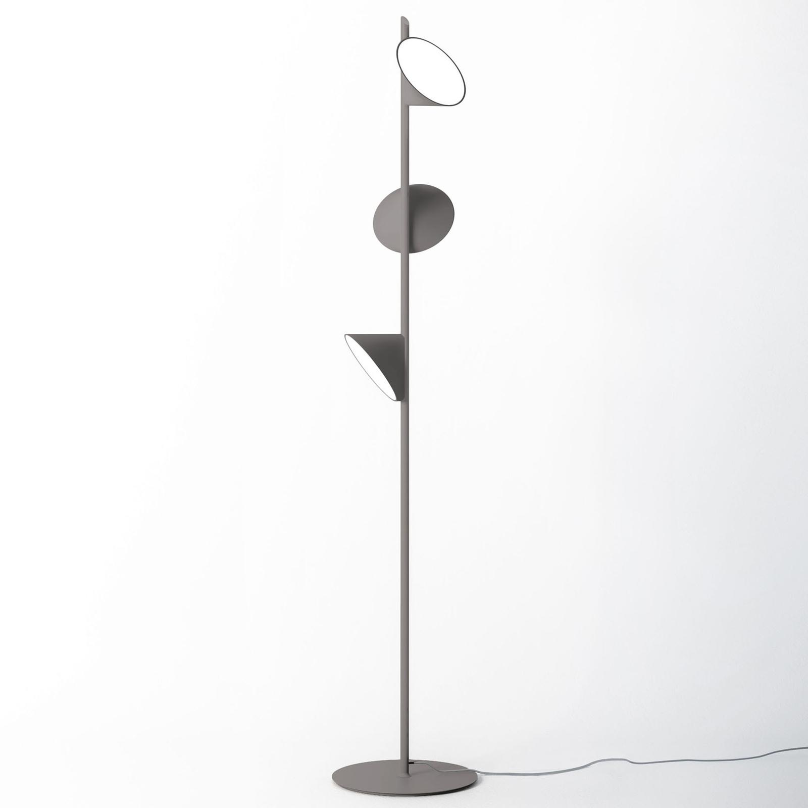 Axolight Orchid lampadaire LED, gris foncé