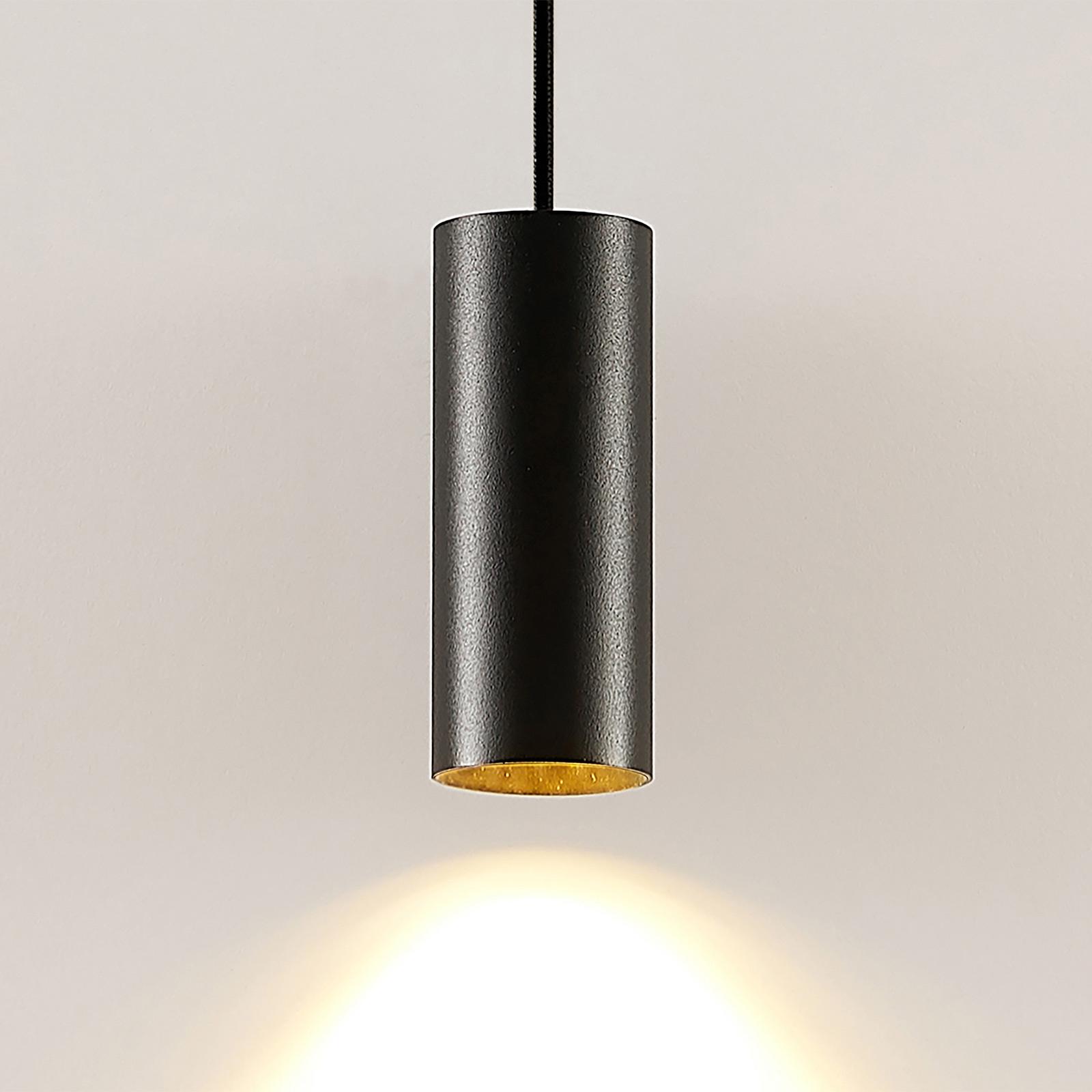 Arcchio Ejona závěsné světlo, výška 15 cm, černá
